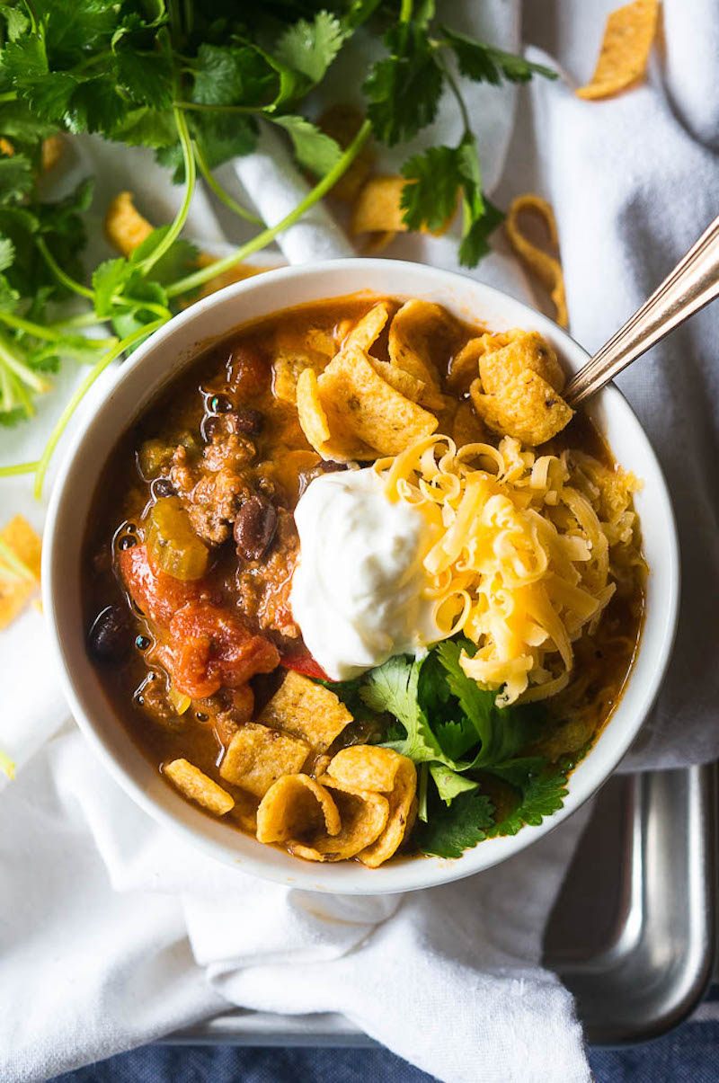 Weekly meal plan: Slow Cooker Chili at Kitschen Cat