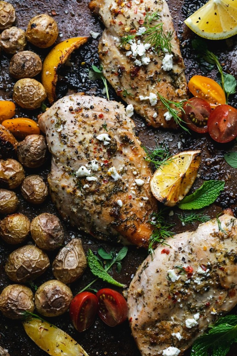 Weekly meal plan: Greek sheet pan chicken at Spices in my DNA