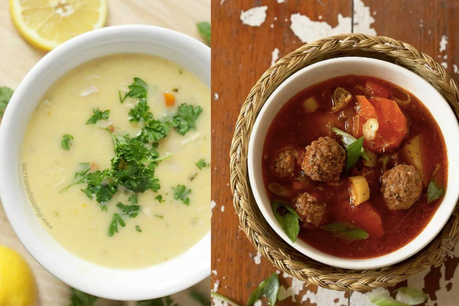 5 Ingredient Soups from The Pinning Mama and The Spruce Eats