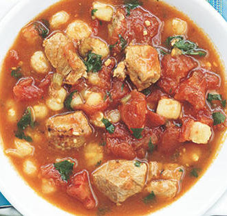 5-Ingredient Soups: Posole by Oxmoor House for My Recipes