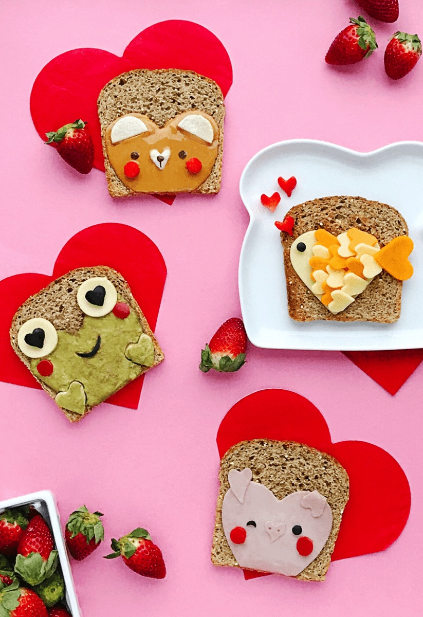 Heart-shaped cookie-cutter Valentine's Day sandwiches | Hello Wonderful