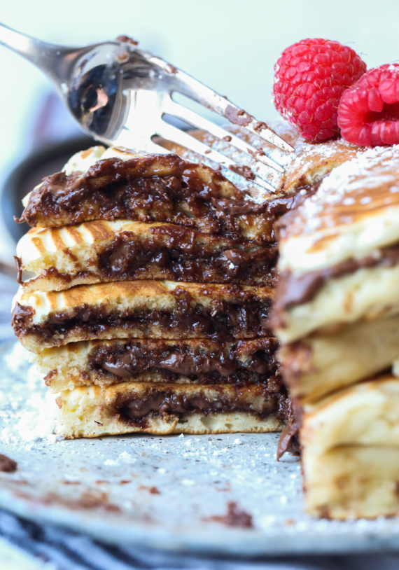 Indulgent pancake hacks forNational Pancake Day: Nutella-stuffed pancakes from Cookies & Cups