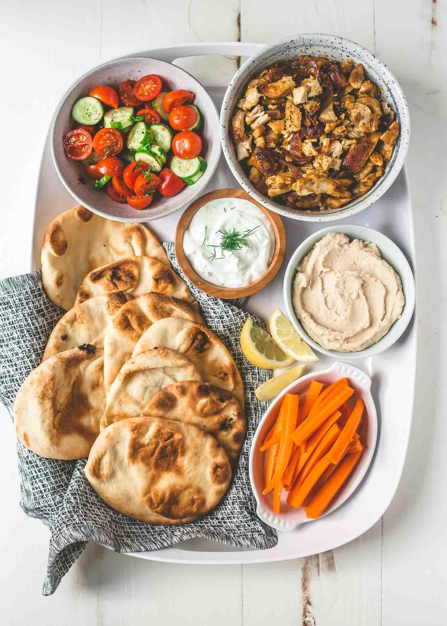 Weekly meal plan: DIY Chicken Shawarma Wraps at Inquiring Chef