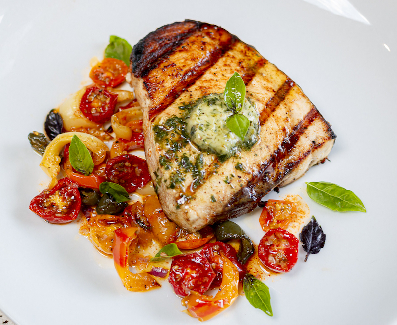 Weekly meal plan: Pesto Butter Swordfish at A Zest for Life