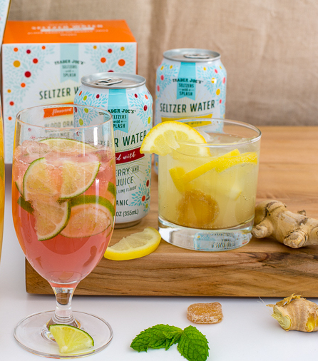 Trader Joe's lemon picks: Lemon & Ginger Juice Seltzer Water