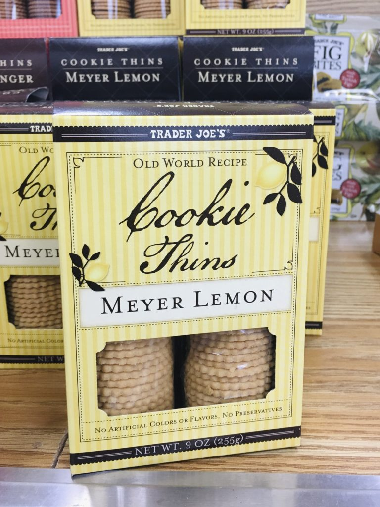 Trader Joe's lemon picks: Meyer Lemon Cookie Thins