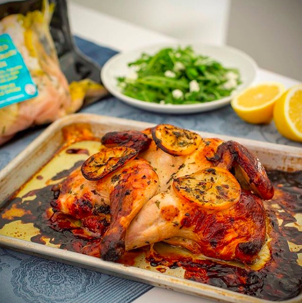 Trader Joe's lemon picks: Spatchcocked Lemon-Rosemary Chicken