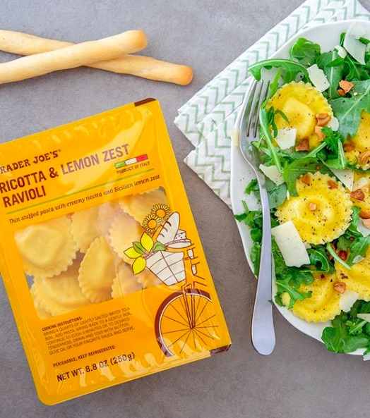 Trader Joe's lemon picks: Ricotta & Lemon Zest Ravioli