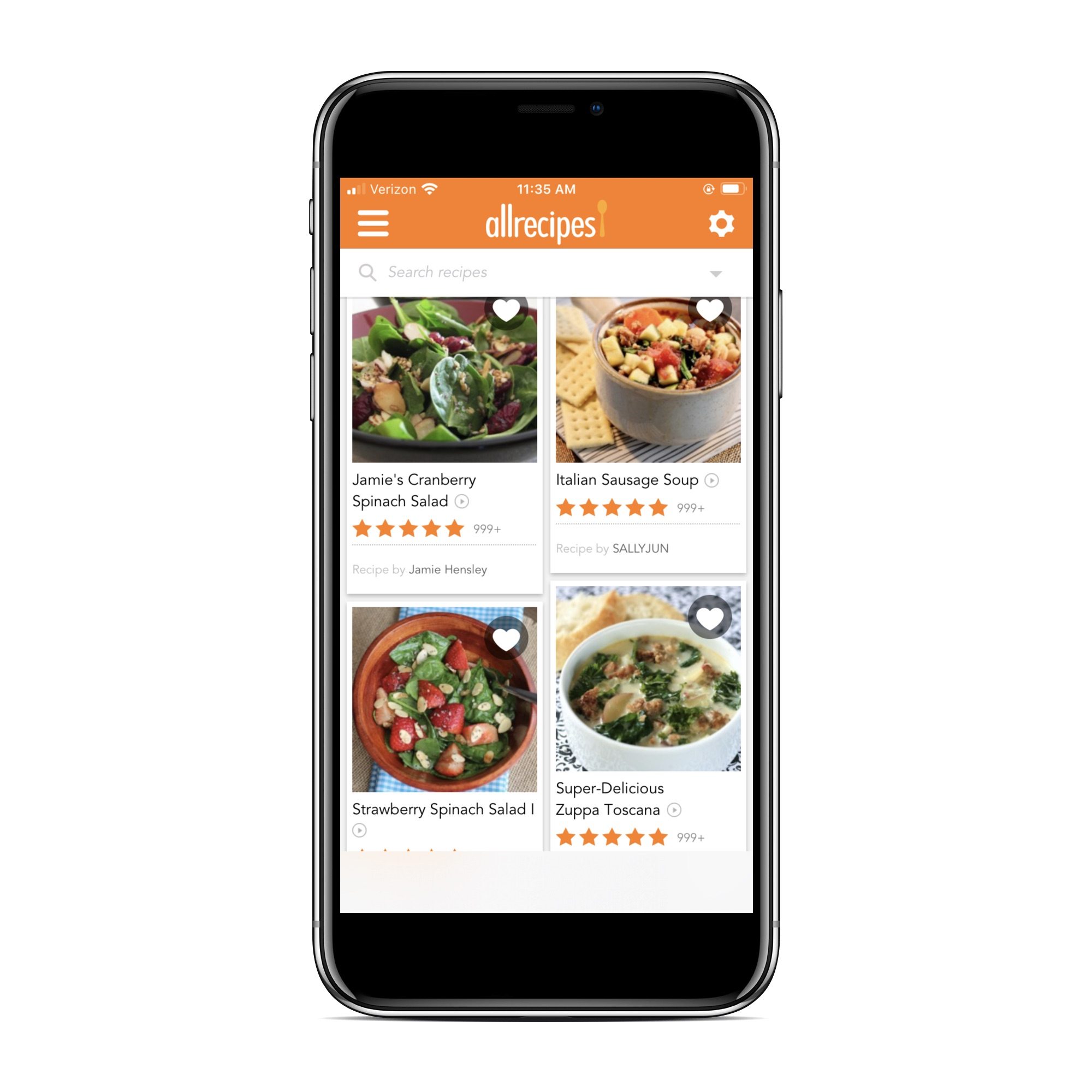 Recipe apps that let you search by ingredient: Allrecipes Dinner Spinner