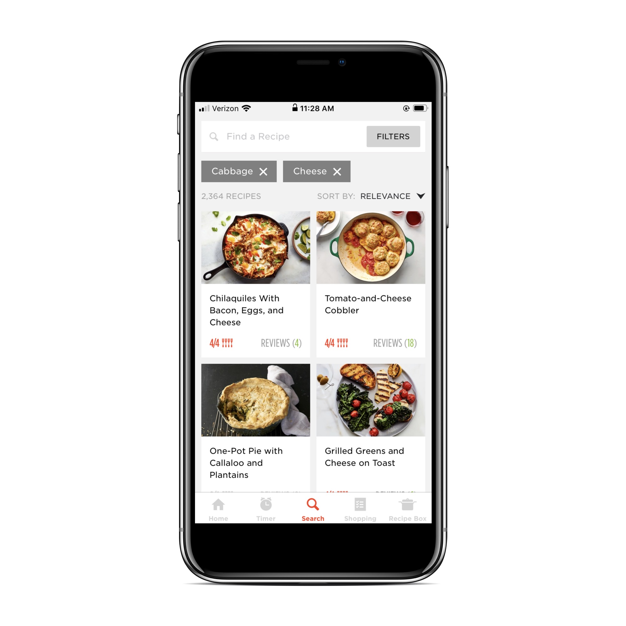 Recipe apps that let you search by ingredient: Epicurious
