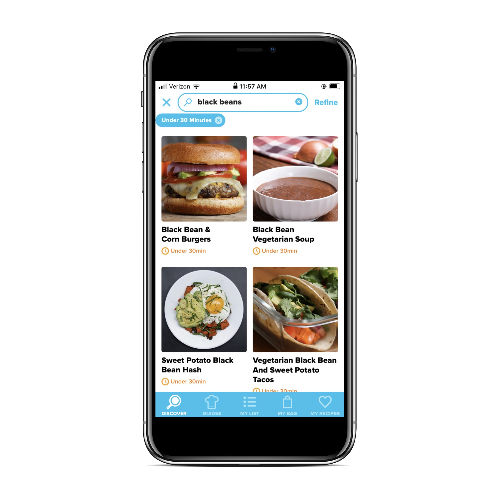 Recipe apps that let you search by ingredient: Tasty
