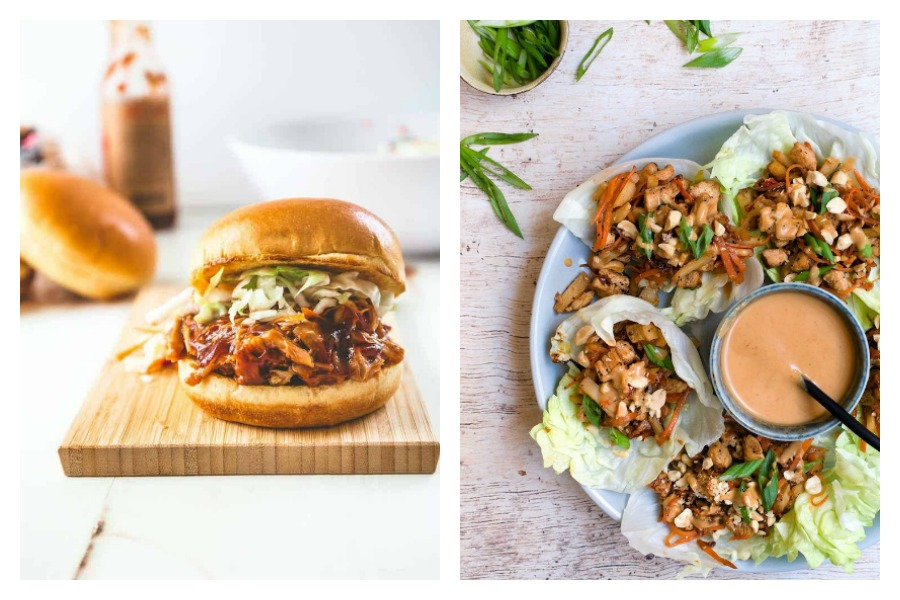 Weekly meal plan: BBQ chicken sandwiches at Inquiring Chef, and Thai Lettuce Wraps at Cherry On My Sundae
