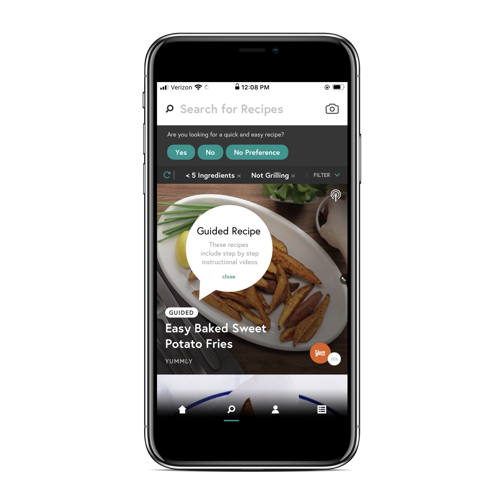 Recipe apps that let you search by ingredient: Yummly