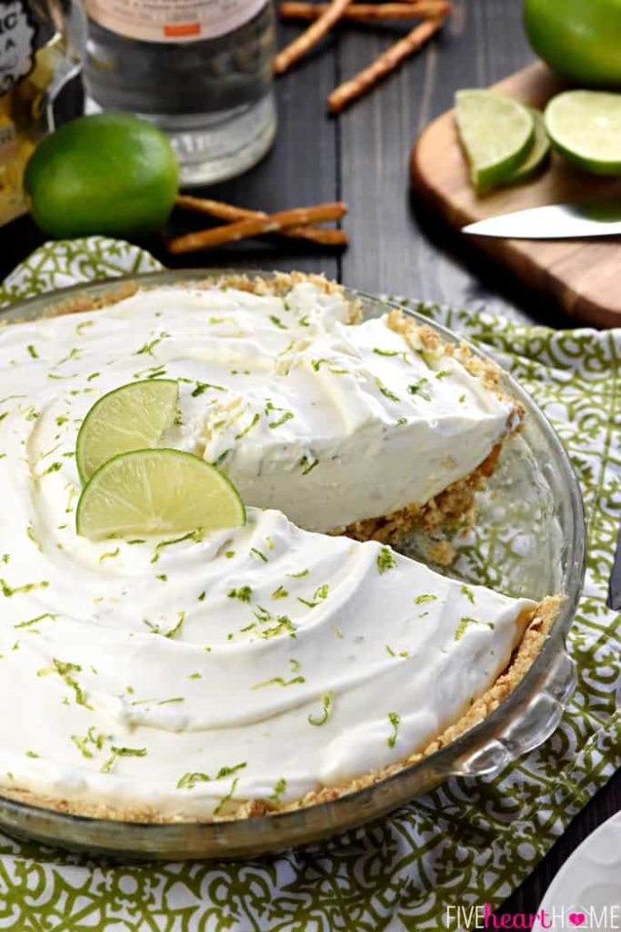 Toast dad on Father's Day with this boozy Frozen Margarita Pie recipe from Five Heart Home
