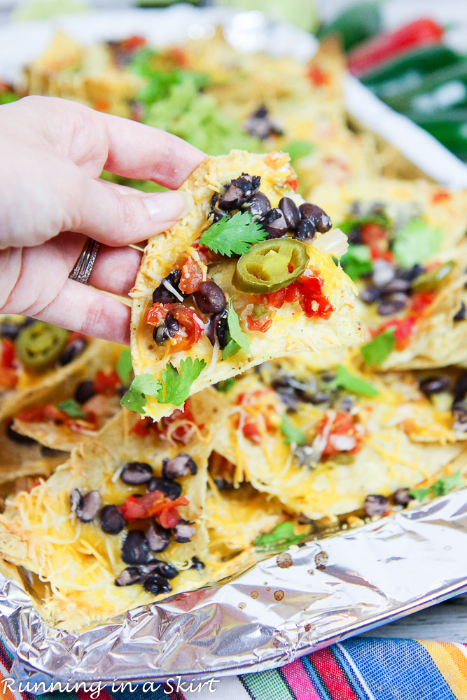6 easy hot lunches your kids can make themselves: These vegetarian nachos from Running in a Skirt are so simple and adaptable.
