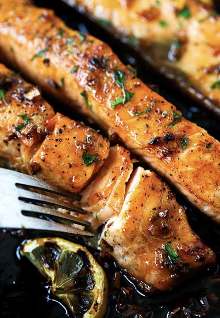 Honey Garlic Salmon from Rasa Malaysia