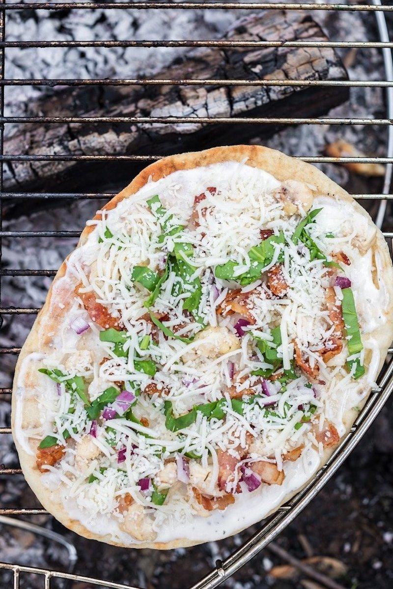 Easy backyard camping recipes: Campfire pizza at Spaceships and Laser Beams