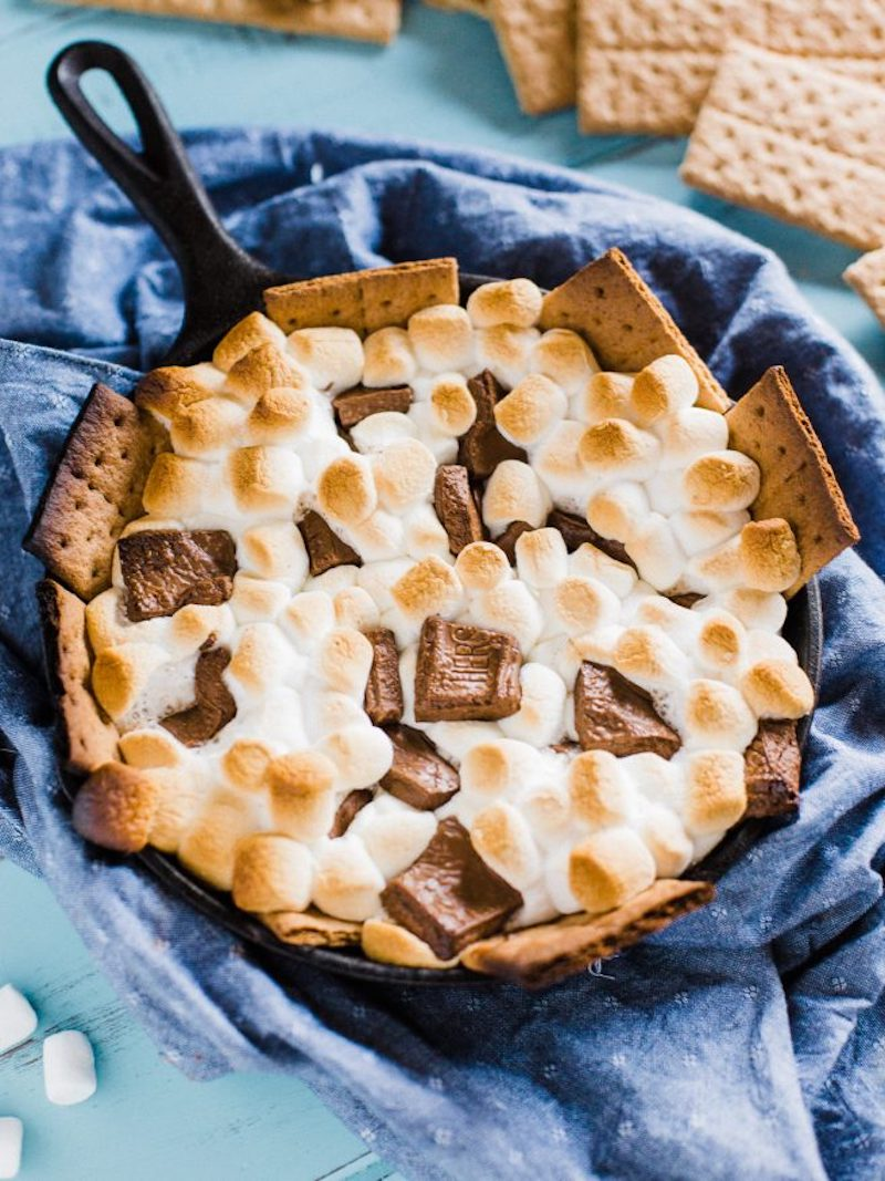 Easy backyard camping recipes: S'mores dip at Dad with a Pan