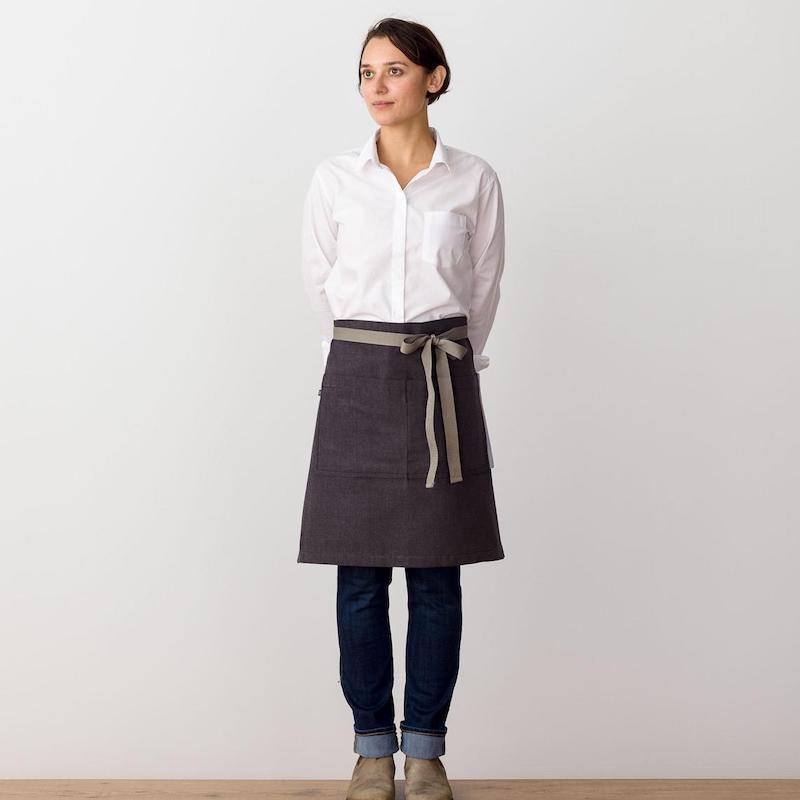 Modern aprons for spring we love: Bistro-style half apron at Reluctant Trader
