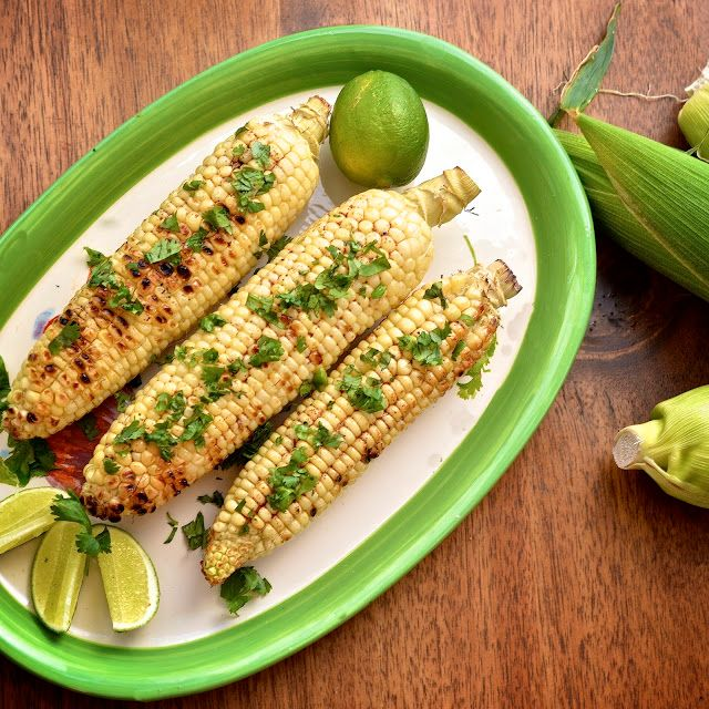 60+ of the best grilling tips and recipes: Grilled corn with ancho butter and lime at Virtually Homemade