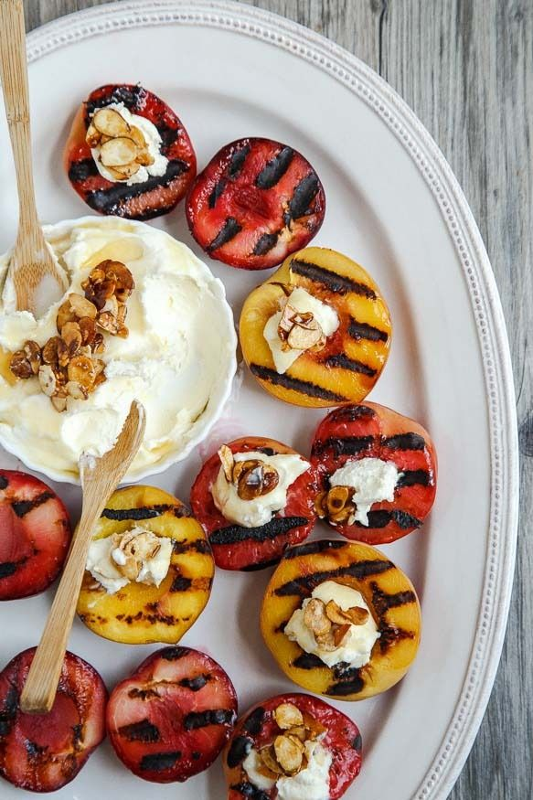 60+ great grilling tips and recipes: Grilled Stonefruit with Mascarpone at Dessert for Two