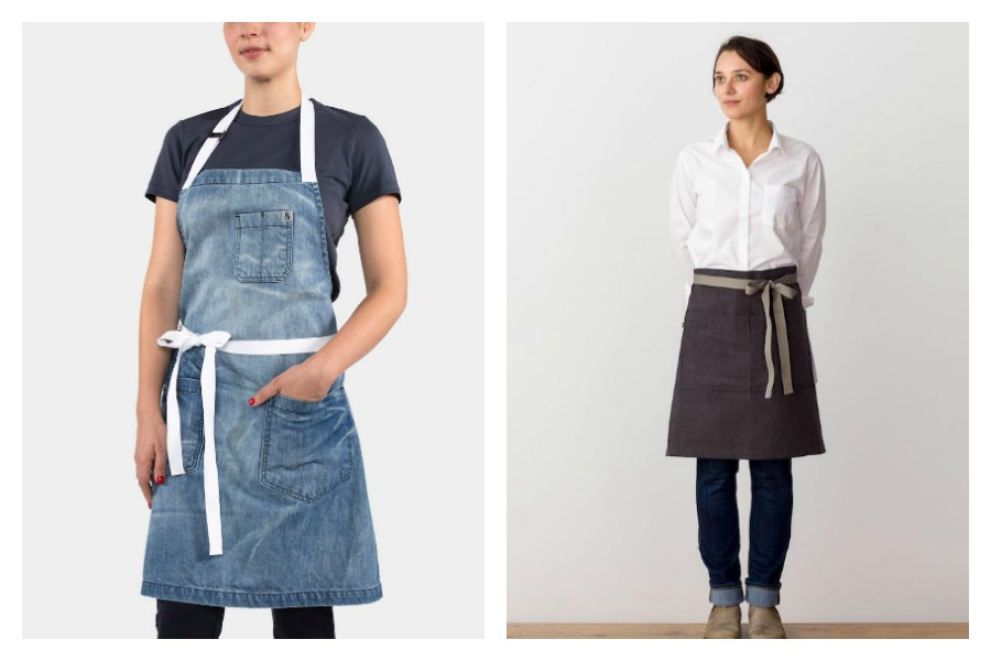 We love these modern aprons! Hey, as long as we're not shopping for cute new spring shoes these days…