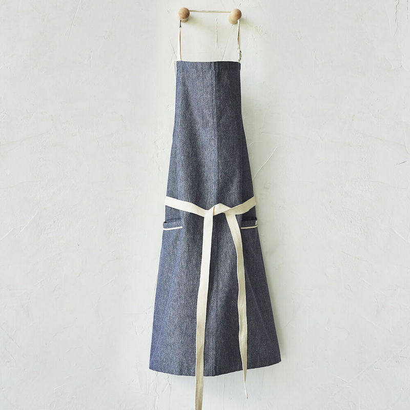 Modern aprons for spring we love: This chambray denim apron at Sur la Table is designed to last.