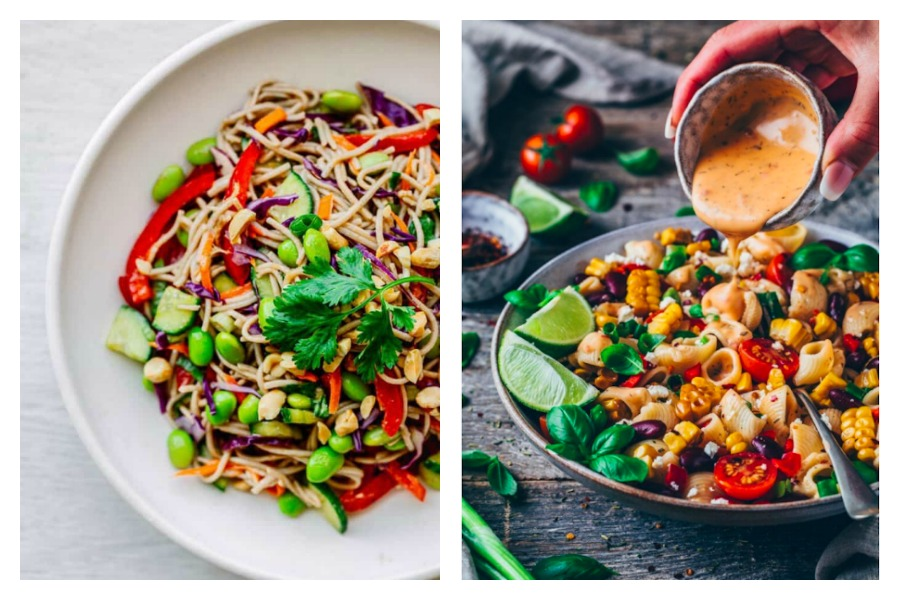 4 easy pasta salad dressing recipes, from Asian noodles at Posh Journal to Mexican flavors at Bianca Zaptazka