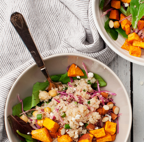 Amazing Sweet Potato Quinoa Bowls from LoveandLemons