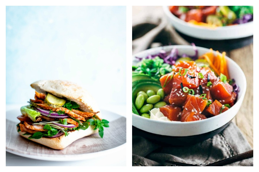 Weekly meal plan: 5 easy meals you don't have to cook, from a sandwich smorgasbord to poke bowls at Jessica Gavin