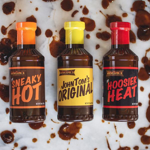 A trio of John Tom's barbecue sauces make a tasty Father's Day gift while also supporting an Indiana black-owned business