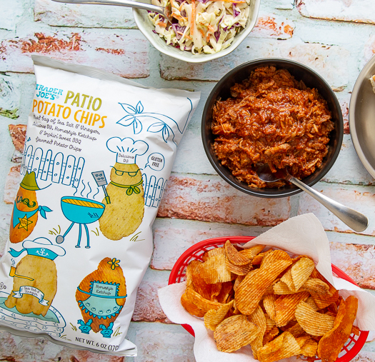 Trader Joe's Patio Potato Chips mix four different chips for this perfect summer barbecue treat