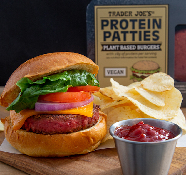 Trader Joe's Protein Patties grill up like regular burgers for your summer barbecue