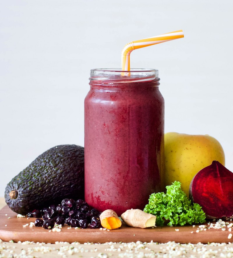 Seasonal berry recipes: Berries and Red Beet spicy smoothie at Refresh My Health