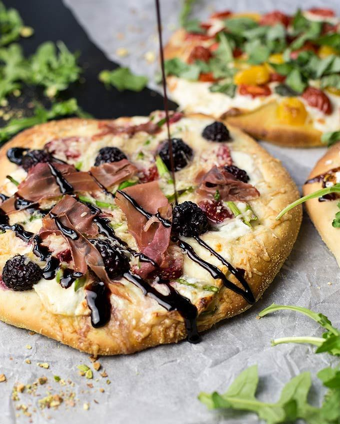 Creative ways to use berries this summer: Add them to your pizza, with this recipe from Kiwi & Carrott
