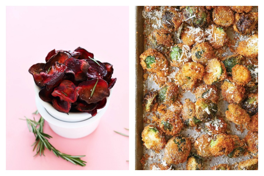 5 great recipes to make with your July CSA box, from Minimalist Baker's beet chips to Damn Delicious's parmesan Brussels sprouts. Yum!