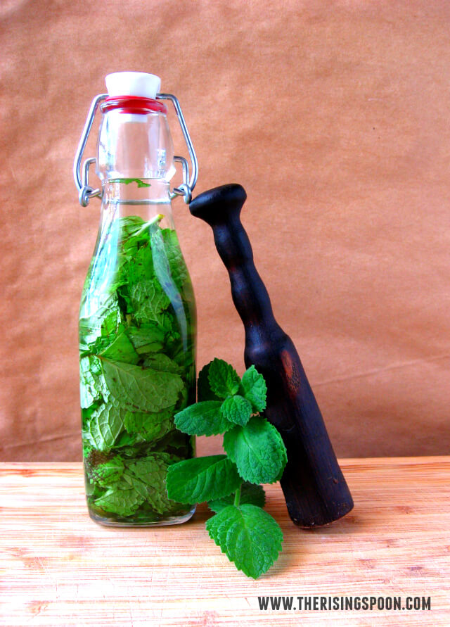 Use your extra mint leaves to make a peppermint extract at The Rising Spoon