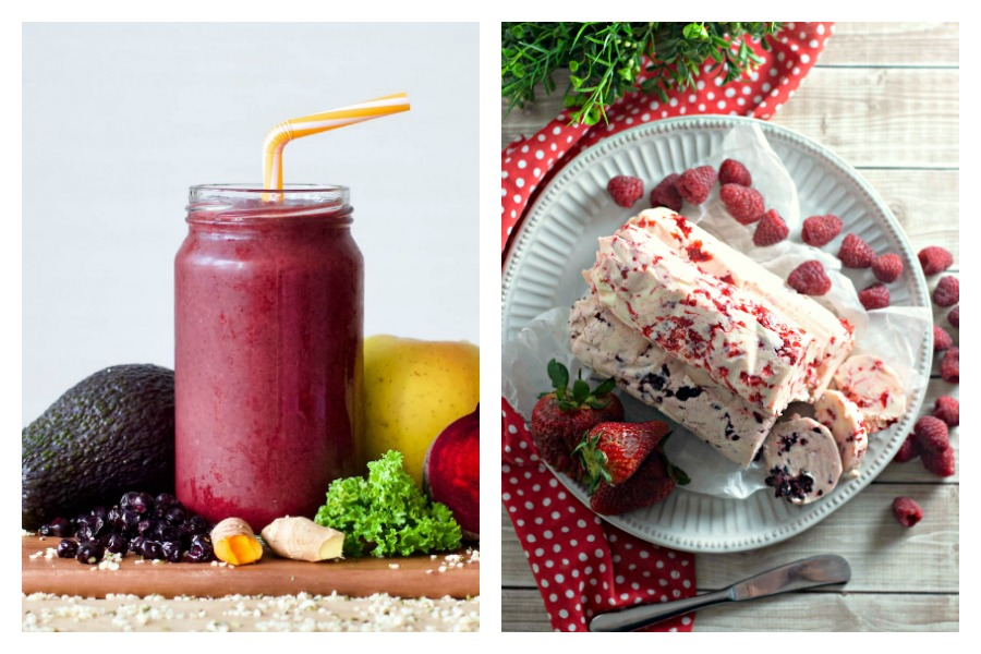 6 great seasonal berries recipes, with some unexpected ways to use them up | Berry & Beet Smoothie at Refresh My Health, Compound Berry Butters at Mom Needs Chocolate