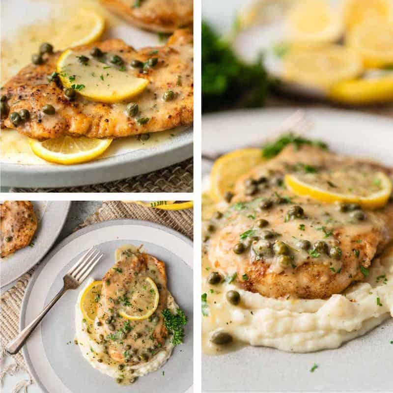 Weekly meal plan: Date night at home with this chicken piccata recipe at Kevin is Cooking
