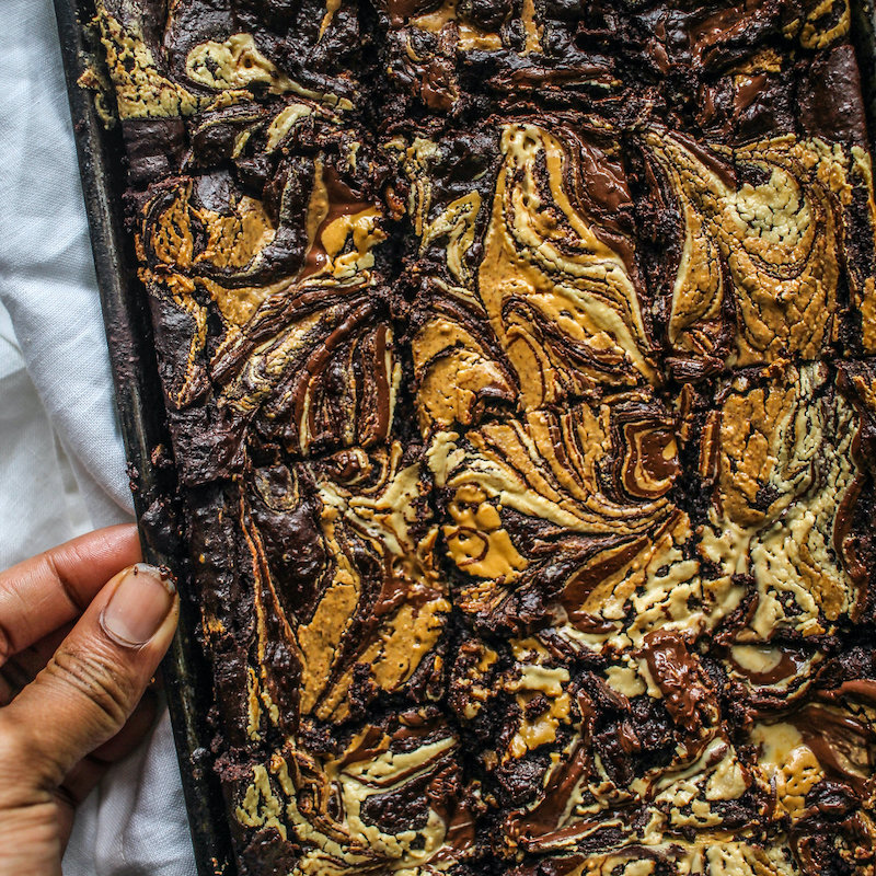 Weekly meal plan: These beautiful vegan & gluten free brownies at Chocolate for Basil are a must.