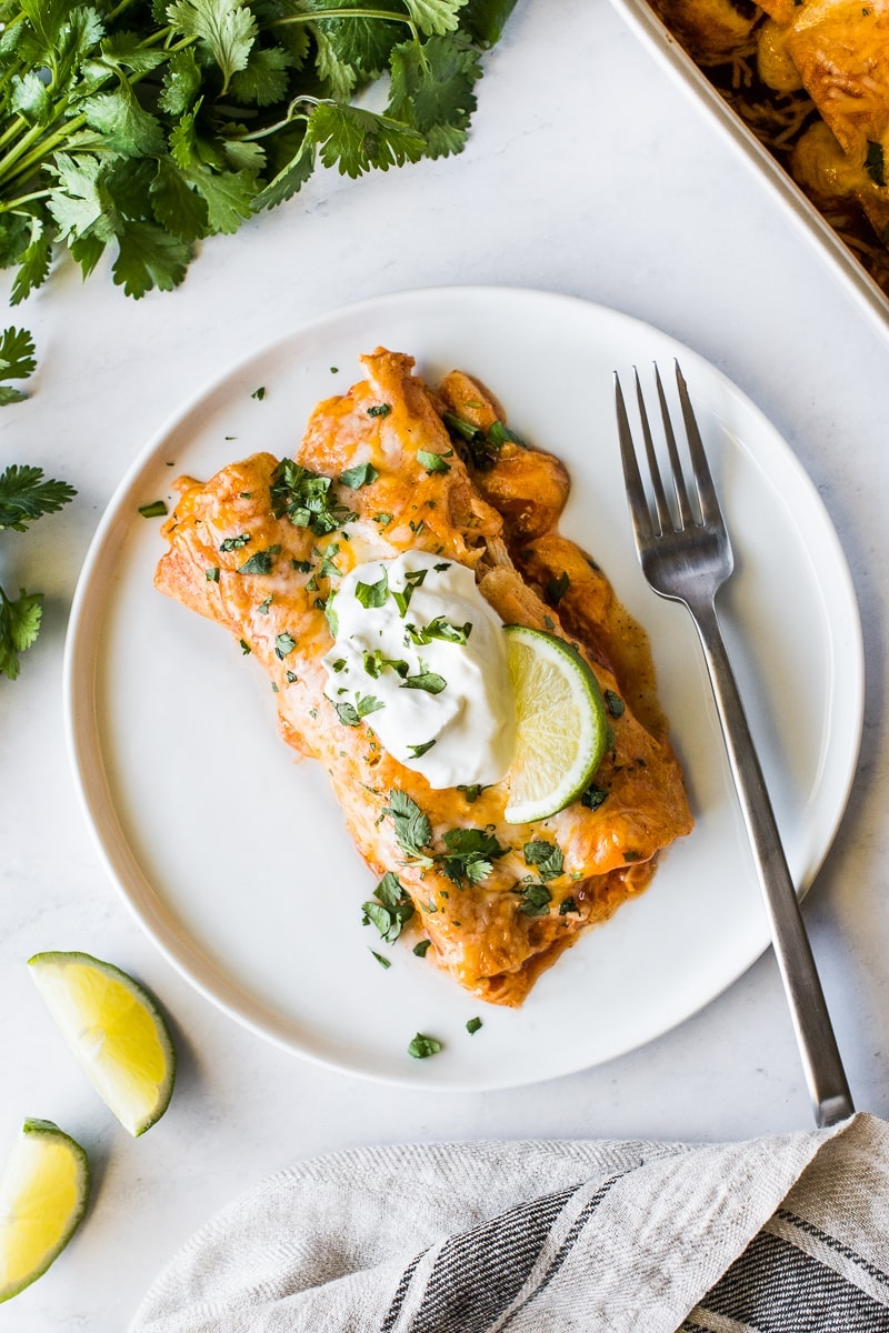 Weekly meal plan ideas: Chicken Enchiladas at Isabel Eats