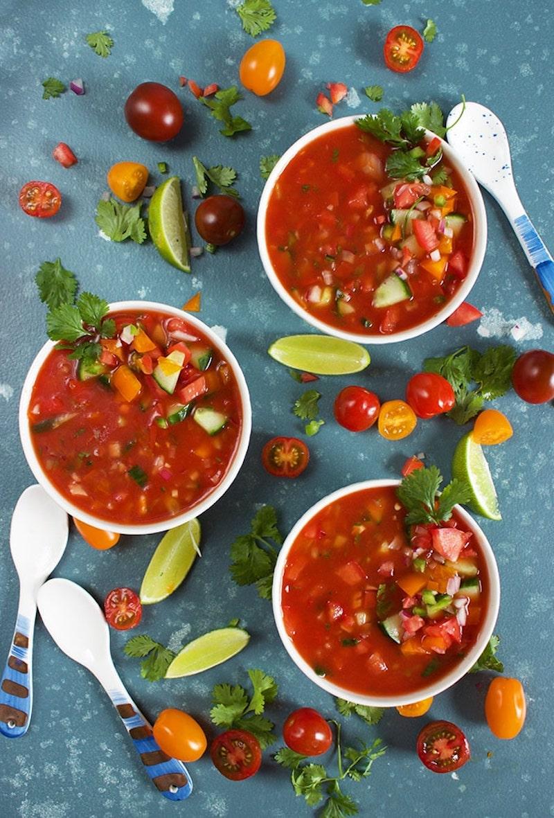 3 gazpacho recipes to keep on hand: Chunky quick gazpacho at The Suburban Soapbox