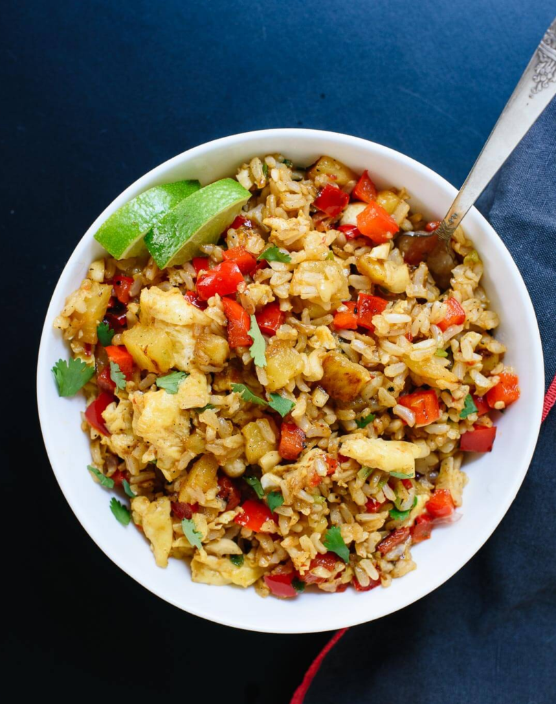 Thai Pineapple Fried Rice via Cookie and Kate| 5 fantastic dinner recipes that offer twists on the same-old at Cool Mom Eats