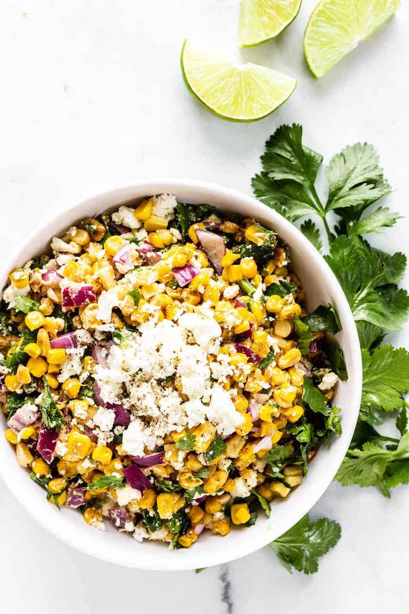 What to make with veggies from your August CSA Box: Corn Salad at Pass Me Some Tasty