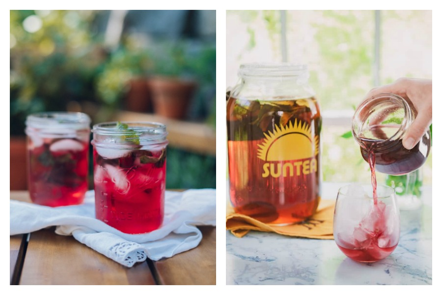 4 delicious ways to upgrade your sun tea recipe | recipes from The Well Essentials and Two Lucky Spoons
