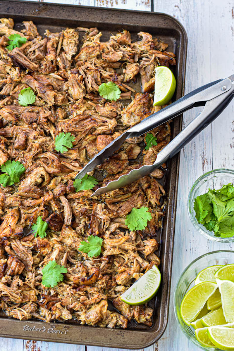 Weekly meal plan: Instant Pot carnitas at Good Noms Honey