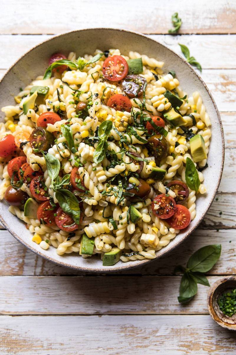 Weekly meal plan: Make a big bowl of Halfbaked Harvest's pasta salad earlier in the day for an easy dinner.