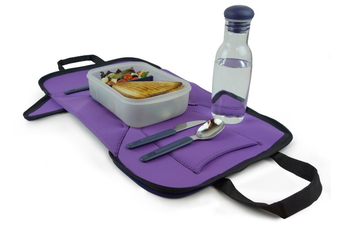 Built NY neoprene convertible lunch box lays flat to become a placemat too
