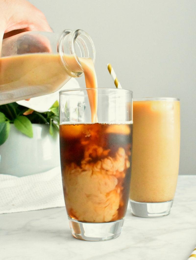 Creative pumpkin recipes for fall: Pumpkin cream cold brew coffee at Herbs & Flour