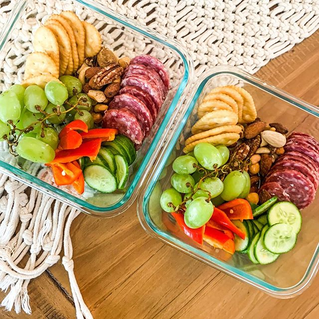 Individual snack tray ideas for kids from Wellness Homemade is just enough for each kid to graze through the day